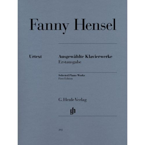 HENLE VERLAG HENSEL F. - SELECTED PIANO WORKS (FIRST EDITION)
