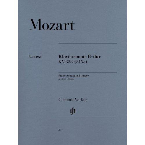 HENLE VERLAG MOZART W.A. - PIANO SONATA B FLAT MAJOR K. 333 (315C)