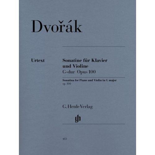 HENLE VERLAG DVORAK A. - SONATINA FOR PIANO AND VIOLIN G MAJOR OP. 100