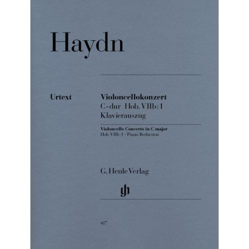HENLE VERLAG HAYDN J. - CONCERTO FOR VIOLONCELLO AND ORCHESTRA C MAJOR HOB. VIIB:1