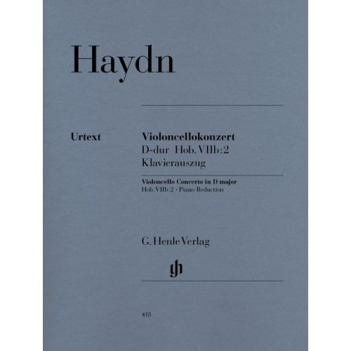 HENLE VERLAG HAYDN J. - CONCERTO FOR VIOLONCELLO AND ORCHESTRA D MAJOR HOB. VIIB:2