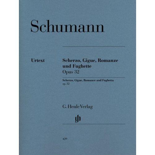 HENLE VERLAG SCHUMANN R. - SCHERZO, GIGUE, ROMANCE AND FUGHETTA OP. 32 - PIANO