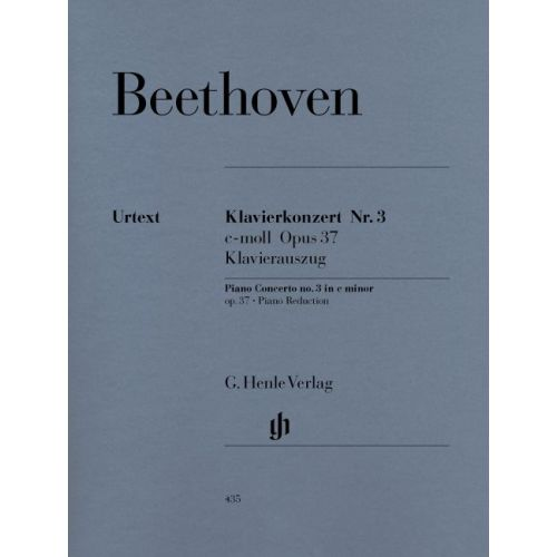 HENLE VERLAG BEETHOVEN L.V. - CONCERTO FOR PIANO AND ORCHESTRA NO. 3 C MINOR OP. 37
