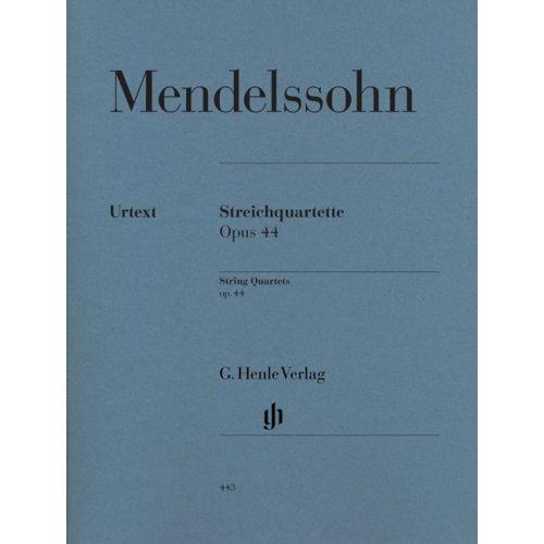HENLE VERLAG MENDELSSOHN B F. - STRING QUARTETS OP. 44, 1-3