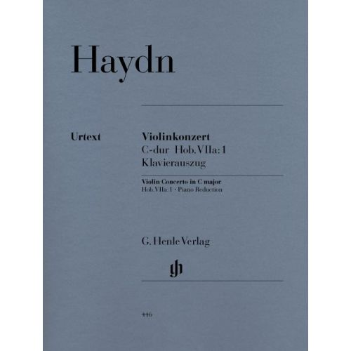 HENLE VERLAG HAYDN J. - CONCERTO FOR VIOLIN AND ORCHESTRA C MAJOR HOB. VIIA:1