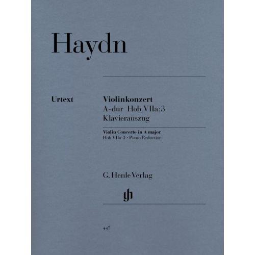 HENLE VERLAG HAYDN J. - CONCERTO FOR VIOLIN AND ORCHESTRA A MAJOR HOB. VIIA:3