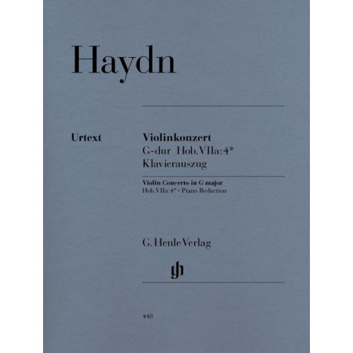 HENLE VERLAG HAYDN J. - CONCERTO FOR VIOLIN AND ORCHESTRA G MAJOR HOB. VIIA:4