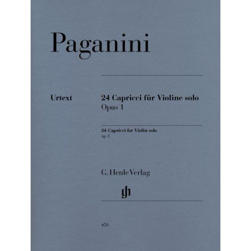 HENLE VERLAG PAGANINI N. - 24 CAPRICCI OP. 1 (NOTATED AND ANNOTATED VERSION)