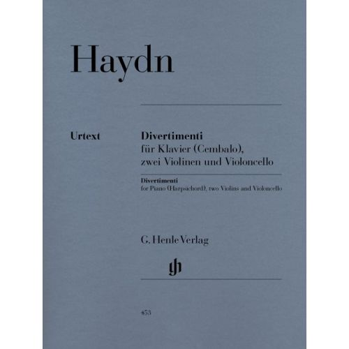HENLE VERLAG HAYDN J. - DIVERTIMENTI FOR PIANO (CEMBALO), 2 VIOLINS AND VIOLONCELLO