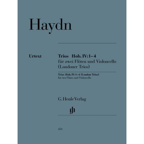 HENLE VERLAG HAYDN J. - TRIOS FOR TWO FLUTES AND VIOLONCELLO HOB. IV:1–4 (LONDON TRIOS)