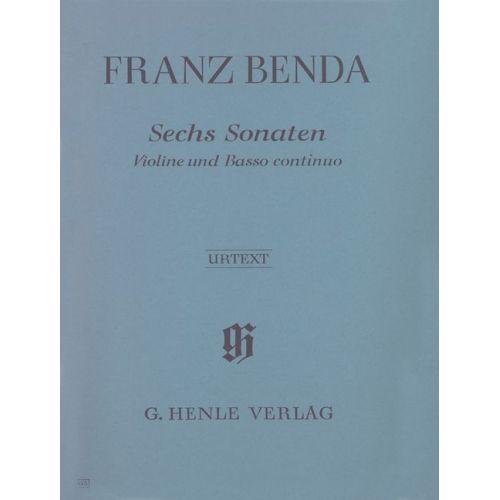 HENLE VERLAG BENDA F. - 6 SONATAS FOR VIOLIN AND BASSO CONTINUO