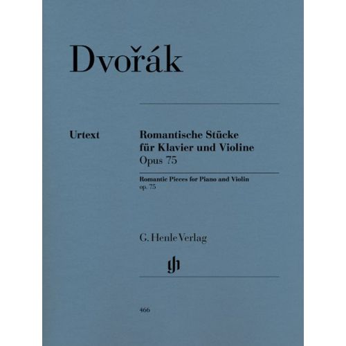 HENLE VERLAG DVORAK A. - ROMANTIC PIECES FOR VIOLIN AND PIANO OP. 75