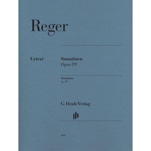 HENLE VERLAG REGER M. - SONATINAS OP. 89 - PIANO