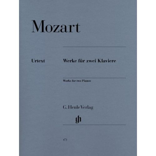 HENLE VERLAG MOZART W.A. - WORKS FOR TWO PIANOS
