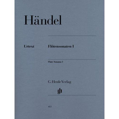 HENLE VERLAG HAENDEL G.H. - FLUTE SONATAS, VOLUME I (WITH SEPARATE FLUTE/BASSO CONTINUO PART (TWO COPIES))