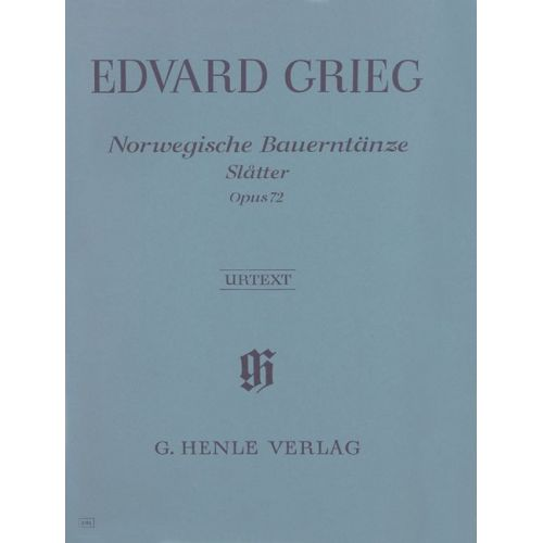 HENLE VERLAG GRIEG E. - NORWEGIAN PEASANT DANCES [SLATTER] OP. 72 - PIANO