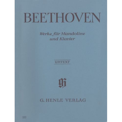HENLE VERLAG BEETHOVEN L.V. - WORKS FOR MANDOLIN AND PIANO