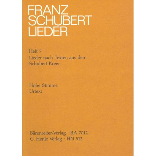HENLE VERLAG SCHUBERT F. - SONGS WITH LYRICS BY THE SCHUBERT CIRCLE