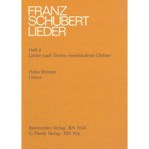 HENLE VERLAG SCHUBERT F. - SONGS WITH LYRICS BY VARIOUS POETS