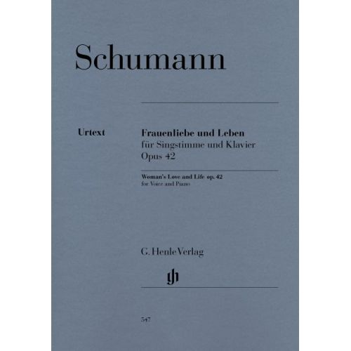 HENLE VERLAG SCHUMANN R. - WOMAN'S LOVE AND LIFE(FRAUENLIEBE UND LEBEN) FOR VOICE AND PIANO OP. 42