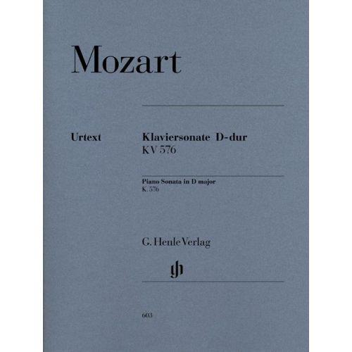 HENLE VERLAG MOZART W.A. - PIANO SONATA D MAJOR K. 576