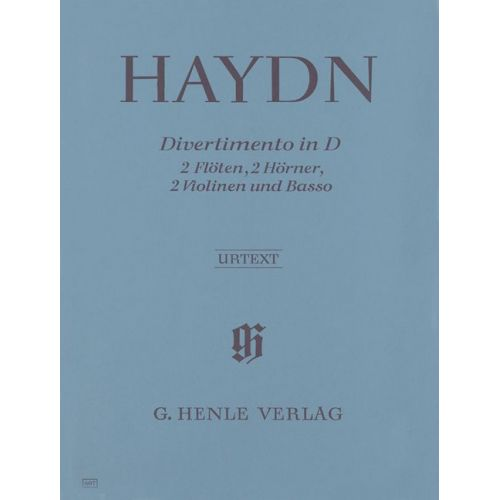 HENLE VERLAG HAYDN J. - DIVERTIMENTO D MAJOR HOB. II:8 FOR 2 FLUTES, 2 HORNS, 2 VIOLINS AND BASSO CONTINUO