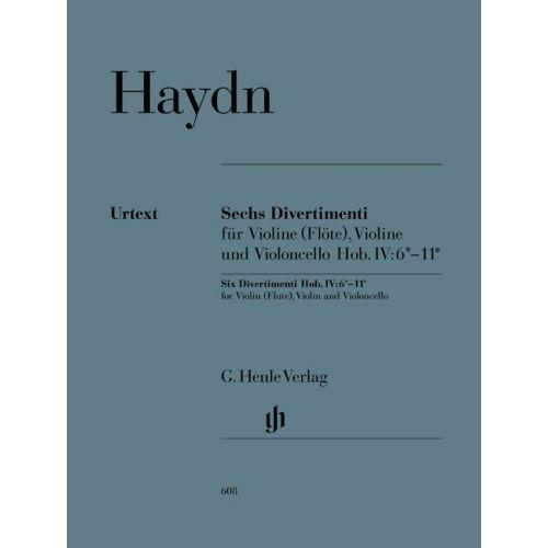 HENLE VERLAG HAYDN J. - SIX DIVERTIMENTI HOB. IV:6*–11*