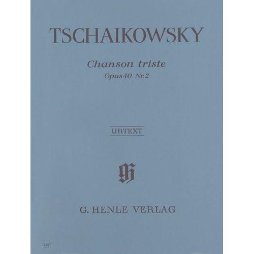 HENLE VERLAG TSCHAIKOWSKY P.I. - CHANSON TRISTE OP. 40,2