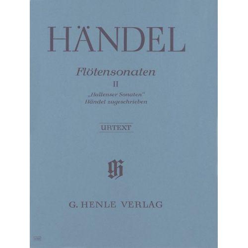HENLE VERLAG HAENDEL G.H. - FLUTE SONATAS, VOLUME II [HALLENSER-SONATAS], THREE SONATAS ATTRIBUTED TO HANDEL