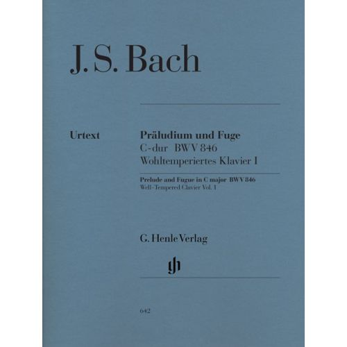 HENLE VERLAG BACH J.S. - PRELUDE AND FUGUE C MAJOR ( FROM THE WELL-TEMPERED CLAVIER PART I) BWV 846