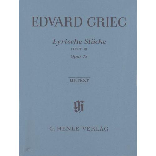 HENLE VERLAG GRIEG E. - LYRIC PIECES VOLUME III, OP. 43