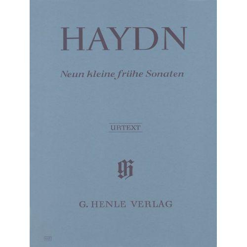 HENLE VERLAG HAYDN J. - NINE LITTLE EARLY SONATAS HOB. XVI:1, 3, 4, 7-10, G1, D1