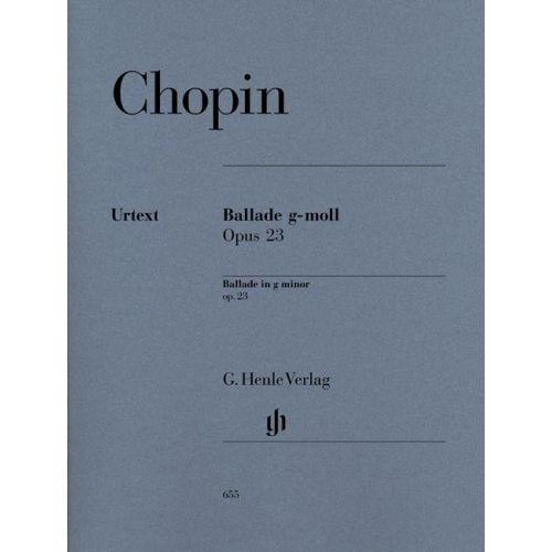 HENLE VERLAG CHOPIN F. - BALLADE G MINOR OP. 23