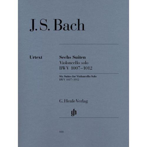 HENLE VERLAG BACH J.S. - 6 SUITES FOR VIOLONCELLO SOLO BWV 1007-1012