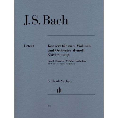 HENLE VERLAG BACH J.S. - CONCERTO FOR 2 VIOLINS AND ORCHESTRA D MINOR BWV 1043