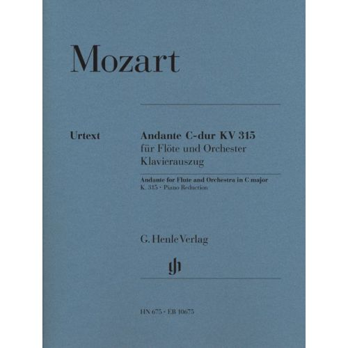 HENLE VERLAG MOZART W.A. - ANDANTE FOR FLUTE AND ORCHESTRA C MAJOR KV 315