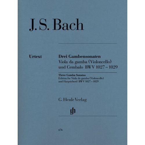 HENLE VERLAG BACH J.S. - SONATAS FOR VIOLA DA GAMBA AND HARPSICHORD BWV 1027-1029