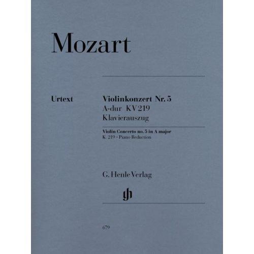 HENLE VERLAG MOZART W.A. - VIOLIN CONCERTO NO. 5 A MAJOR K. 219