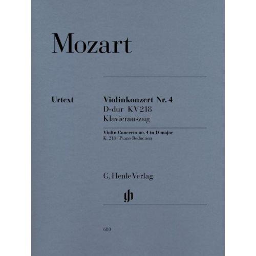 HENLE VERLAG MOZART W.A. - VIOLIN CONCERTO NO. 4 D MAJOR K. 218