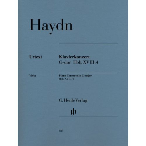 HENLE VERLAG HAYDN J. - CONCERTO FOR PIANO (HARPSICHORD) AND ORCHESTRA G MAJOR HOB. XVIII:4