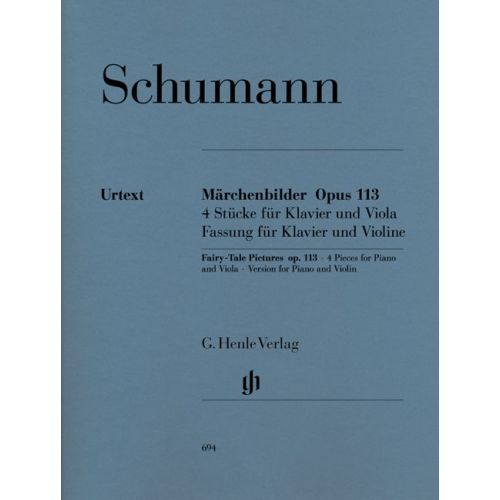 HENLE VERLAG SCHUMANN R. - FAIRY-TALE PICTURES FOR VIOLA AND PIANO OP. 113