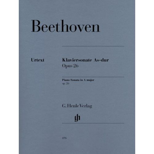 HENLE VERLAG BEETHOVEN L.V. - PIANO SONATA NO. 12 A-FLAT MAJOR OP. 26