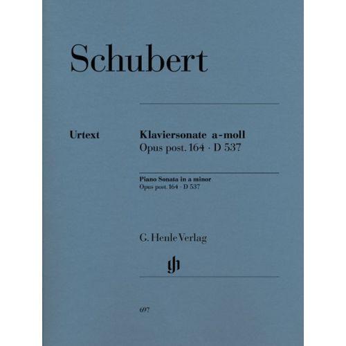 HENLE VERLAG SCHUBERT F. - PIANO SONATA A MINOR OP. POST. 164 D 537