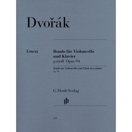 HENLE VERLAG DVORAK A. - RONDO FOR VIOLONCELLO AND PIANO G MINOR OP. 94
