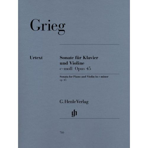 HENLE VERLAG GRIEG E. - VIOLIN SONATA C MINOR OP. 45