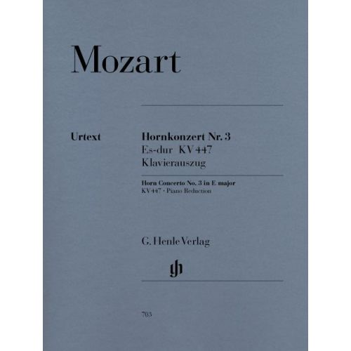 HENLE VERLAG MOZART W.A. - CONCERTO FOR HORN AND ORCHESTRA NO. 3 E FLAT MAJOR KV 447 (WITH PARTS IN E FLAT AND F)