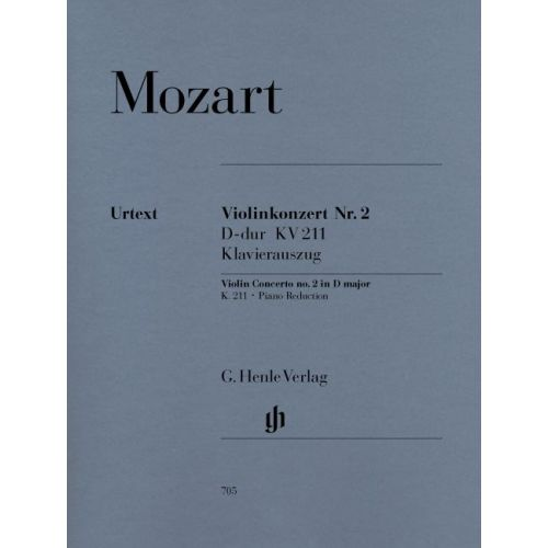 HENLE VERLAG MOZART W.A. - VIOLIN CONCERTO NO. 2 D MAJOR K. 211