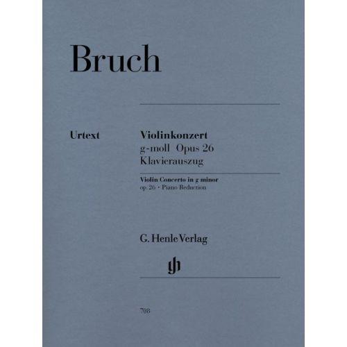 HENLE VERLAG BRUCH M. - VIOLIN CONCERTO G MINOR OP. 26