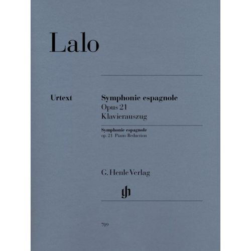 HENLE VERLAG LALO E. - SYMPHONIE ESPAGNOLE FOR VIOLIN AND ORCHESTRA D MINOR OP. 21