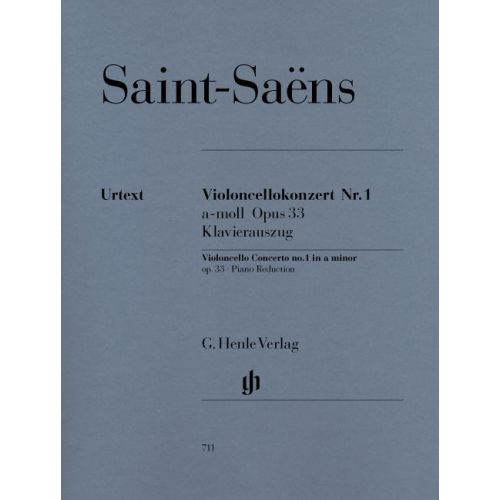 HENLE VERLAG SAINT-SAENS C. - CONCERTO FOR VIOLONCELLO AND ORCHESTRA NO. 1 A MINOR OP. 33